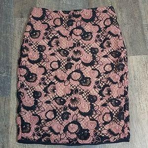 Ann Taylor Crochet Lace Skirt